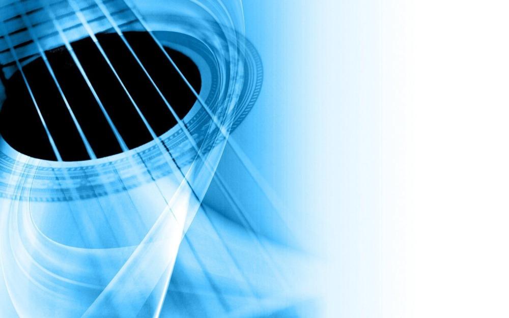 Гитара белая
